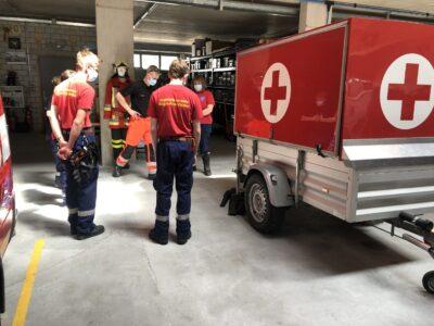 Rettungsdienst und Stab in Rheinfelden 12.06.2021